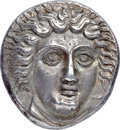 Ancients:Greek, Ancients: CARIAN ISLANDS. Rhodes. Ca. 404-385 BC. AR tetradrachm(23mm, 15.23 gm, 12h). NGC AU ★ 5/5 - 5/5, Fine Style....