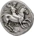 Ancients:Greek, Ancients: CALABRIA. Tarentum. Ca. 332-302 BC. AR stater or didrachm (19mm, 7.82 gm, 3h). NGC MS ★ 4/5 - 5/5, Fine Style....
