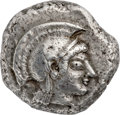 Ancients:Greek, Ancients: ATTICA. Athens. Ca. 510-480 BC. AR tetradrachm (25mm, 17.60 gm, 10h). NGC XF ★ 4/5 - 4/5....