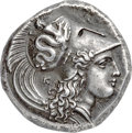 Ancients:Greek, Ancients: LUCANIA. Heraclea. Ca. 330-325 BC. AR stater (22mm, 7.90 gm, 12h). NGC AU ★ 5/5 - 5/5, Fine Style....