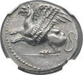 Ancients:Greek, Ancients: THRACE. Abdera. Ca. 386-336 BC. AR stater (23mm, 11.41 gm, 12h). NGC AU 4/5 - 4/5....