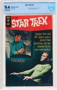 Star Trek #5 (Gold Key, 1969) CBCS NM 9.4 Off-white to white pages