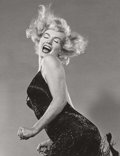 Photographs, Philippe Halsman (American, 1906-1979). Marilyn Monroe (Jumping), 1959. Gelatin silver, 1981. 12-3/4 x 9-3/4 inches (32....