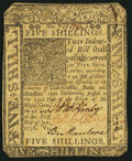 Colonial Notes:Delaware, Delaware January 1, 1776 5s Very Fine-Extremely Fine.. ...