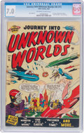 Golden Age (1938-1955):Science Fiction, Journey Into Unknown Worlds #36 (#1) (Atlas, 1950) CGC FN/VF 7.0Off-white to white pages....