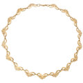Estate Jewelry:Necklaces, Gold Necklace  The 14k gold necklace weighs 31...