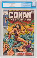 Bronze Age (1970-1979):Adventure, Conan the Barbarian #1 (Marvel, 1970) CGC FN+ 6.5 Off-white pages....