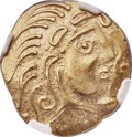 Ancients:Celtic, Ancients: NORTHEAST GAUL. The Parisii. Ca. 100-50 BC. AV stater (23mm, 6.91 gm, 3h). NGC AU 5/5 - 4/5....