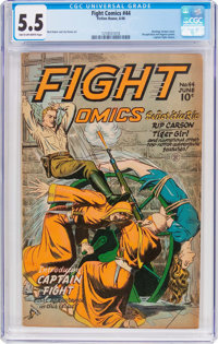 Fight Comics #44 (Fiction House, 1946) CGC FN- 5.5 Tan to off-white pages