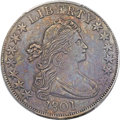 Early Half Dollars, 1801 50C O-101, T-2, R.3 -- Cleaned -- PCGS Genuine. AU Details....