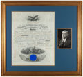 Miscellaneous Collectibles:General, Woodrow Wilson Signed Land Grant. ...
