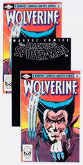 Modern Age (1980-Present):Miscellaneous, Wolverine/Spider-Man Group of 7 (Marvel, 1982-2001) Condition: Average VF/NM.... (Total: 7 Comic Books)