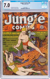 Jungle Comics #20 (Fiction House, 1941) CGC FN/VF 7.0 Cream to off-white pages