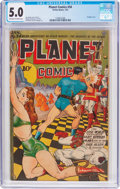 Golden Age (1938-1955):Science Fiction, Planet Comics #34 (Fiction House, 1945) CGC VG/FN 5.0 Off-white towhite pages....
