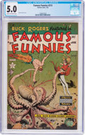Golden Age (1938-1955):Science Fiction, Famous Funnies #215 (Eastern Color, 1955) CGC VG/FN 5.0 Cream tooff-white pages....