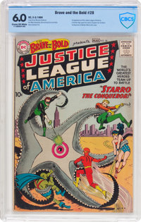 The Brave and the Bold #28 Justice League of America (DC, 1960) CBCS FN 6.0 Cream to off-white pages