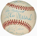 Autographs:Baseballs, Baseball Greats Multi-Signed Baseball With Mantle, Musial andOthers....