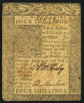 Colonial Notes:Delaware, Delaware January 1, 1776 4s Very Fine.. ...