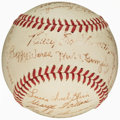 Autographs:Baseballs, 1940's St. Louis Cardinals Team Signed Baseball (24 Signatures)....