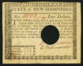 Colonial Notes:New Hampshire, New Hampshire April 29, 1780 $4 Fancy Serial Number VeryFine-Extremely Fine.. ...