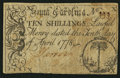 Colonial Notes:South Carolina, South Carolina April 10, 1778 10s Fine-Very Fine.. ...