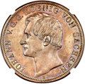German States:Saxony, German States: Saxony. Johann copper Off-Metal Strike 2 Taler 1857-B MS64 Brown NGC,...