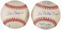 Autographs:Baseballs, St. Louis Cardinals Greats Multi-Signed Baseball and Stan MusialSingle Signed Stat Inscribed Baseball....