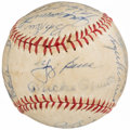Autographs:Baseballs, 1961 New York Yankees Team Signed Baseball (24 Signatures)....