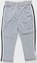 Baseball Collectibles:Uniforms, 1993 Carlton Fisk Game Worn Chicago White Sox Pants. . ...
