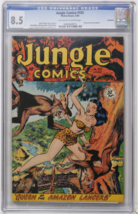Jungle Comics #102 Rockford pedigree (Fiction House, 1948) CGC VF+ 8.5 Off-white to white pages