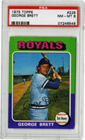 Baseball Cards:Singles (1970-Now), 1975 Topps George Brett #228 PSA NM-MT 8. Outstanding rookie offering from the colorful 1975 Topps issue. The #228 example...