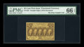 Fractional Currency:First Issue, Fr. 1281 25¢ First Issue PMG Gem Uncirculated 66 EPQ....