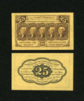 Fractional Currency:First Issue, Fr. 1282SP 25c First Issue Medium Margin Pair Choice New....(Total: 2 notes)