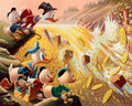 Memorabilia:Disney, Carl Barks Dam Disaster at Money Lake Signed Limited Edition Lithograph Print #301/345 (Another Rainbow, 1986)....