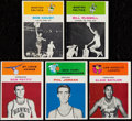 Basketball Cards:Lots, 1961 Fleer Basketball Lot of 5 - Baylor, Pettit, Cousy IA andRussell IA....
