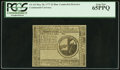 Colonial Notes:Continental Congress Issues, Continental Currency May 20, 1777 $2 PCGS Gem New 65PPQ.. ...