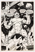 Original Comic Art:Splash Pages, Jim Starlin and Dave Hunt Superboy and the Legion ofSuper-Heroes #250 Splash Page 10 Original Art (DC, 1979)....