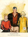Original Comic Art:Miscellaneous, Milton Caniff - Hand-Colored Terry and the Pirates Print(undated)....