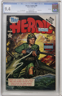 Heroic Comics #80 File Copy (Eastern Color, 1953) CGC NM 9.4 Off-white pages
