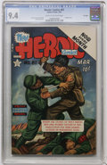 Golden Age (1938-1955):War, Heroic Comics #81 File Copy (Eastern Color, 1953) CGC NM 9.4 Creamto off-white pages....