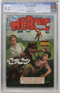 Golden Age (1938-1955):War, Heroic Comics #89 File Copy (Eastern Color, 1954) CGC NM- 9.2Off-white pages....