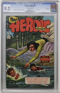 Heroic Comics #90 File Copy (Eastern Color, 1954) CGC NM- 9.2 Off-white pages