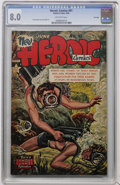 Golden Age (1938-1955):War, Heroic Comics #91 File Copy (Eastern Color, 1954) CGC VF 8.0 Off-white pages....