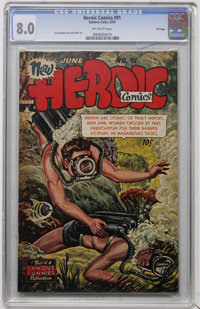 Heroic Comics #91 File Copy (Eastern Color, 1954) CGC VF 8.0 Off-white pages