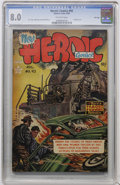 Golden Age (1938-1955):War, Heroic Comics #92 File Copy (Eastern Color, 1954) CGC VF 8.0 Off-white pages....