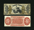 Fractional Currency:Third Issue, Fr. 1357 50c Third Issue Narrow Margin Pair Justice New.... (Total: 2 notes)