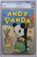 Golden Age (1938-1955):Funny Animal, Four Color #54 Andy Panda (Dell, 1944) CGC VF+ 8.5 Cream tooff-white pages....