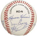 Autographs:Baseballs, 500 Hundred Home Run Club Multi-Signed Baseball. Nine members ofthe 500 Home Run Club have added their signatures to the ON...