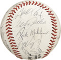 Autographs:Baseballs, 1989 Atlanta Braves Team Signed Baseball. The ONL (Giamatti)baseball has the distinction of holding the signatures of twen...