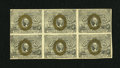 Fractional Currency:Second Issue, Fr. 1245 10c Second Issue Block of Six Notes Extremely Fine.... (Total: 6 notes)